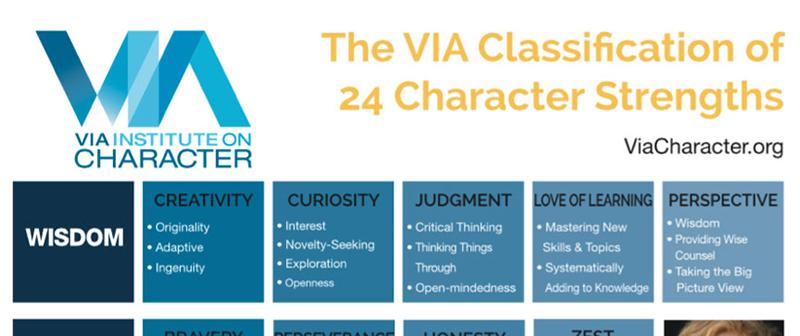 VIA strengths assessment tool