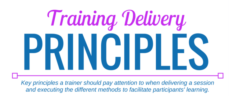 Training Delivery Principles poster by Trainers Toolbox