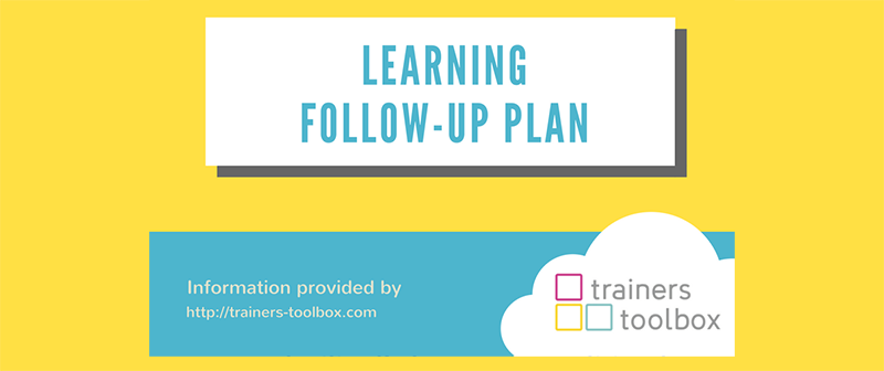 learning follow-up plan